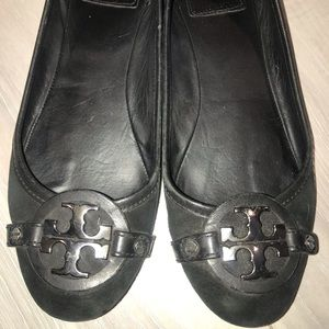 Tory Burch ballet flats in black suede/ leather